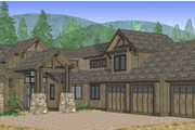 Craftsman Style House Plan - 4 Beds 4 Baths 3691 Sq/Ft Plan #892-4 Exterior - Front Elevation