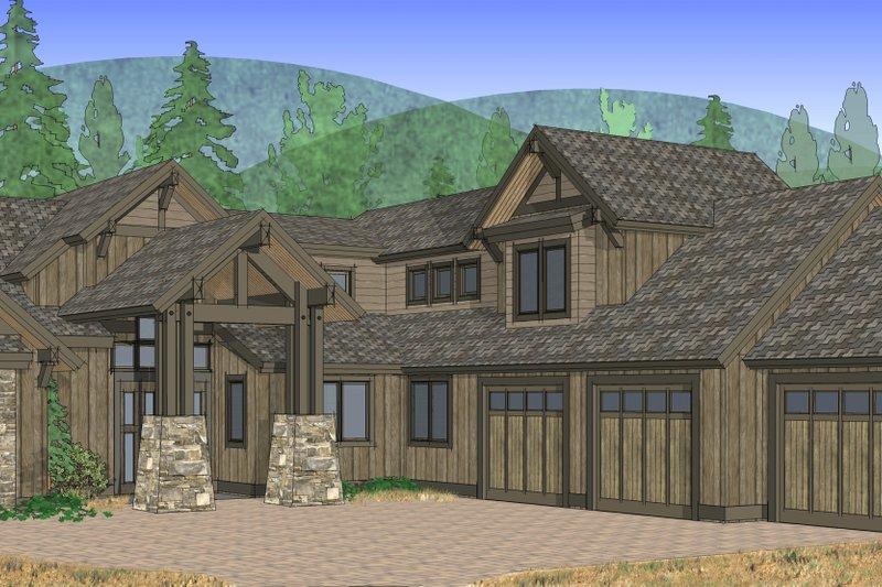 Craftsman Exterior - Front Elevation Plan #892-4 - Houseplans.com