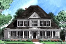 Home Plan - Colonial Exterior - Front Elevation Plan #1054-29
