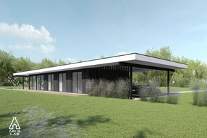 Modern Exterior - Front Elevation Plan #552-7