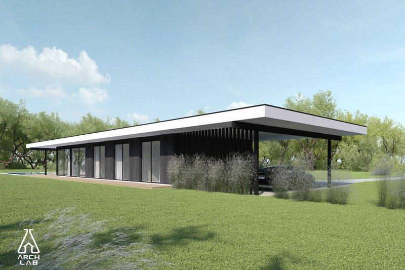 Architectural House Design - Modern Exterior - Front Elevation Plan #552-7