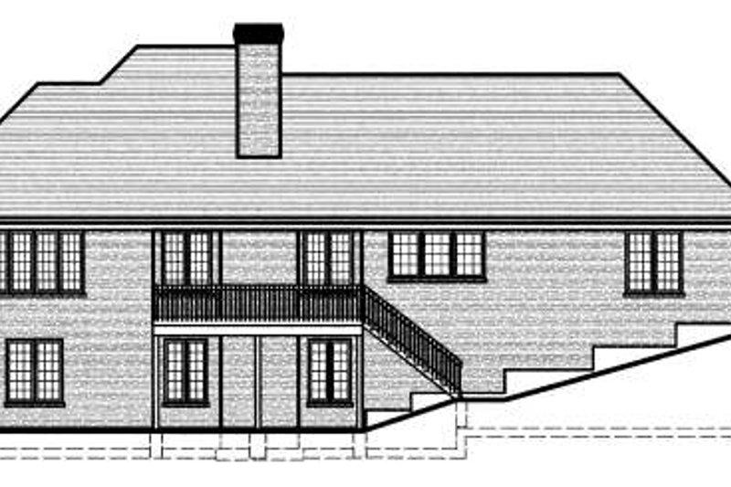 Ranch Exterior - Rear Elevation Plan #46-404 - Houseplans.com