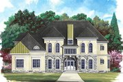 European Style House Plan - 4 Beds 4 Baths 4364 Sq/Ft Plan #119-249 Exterior - Front Elevation