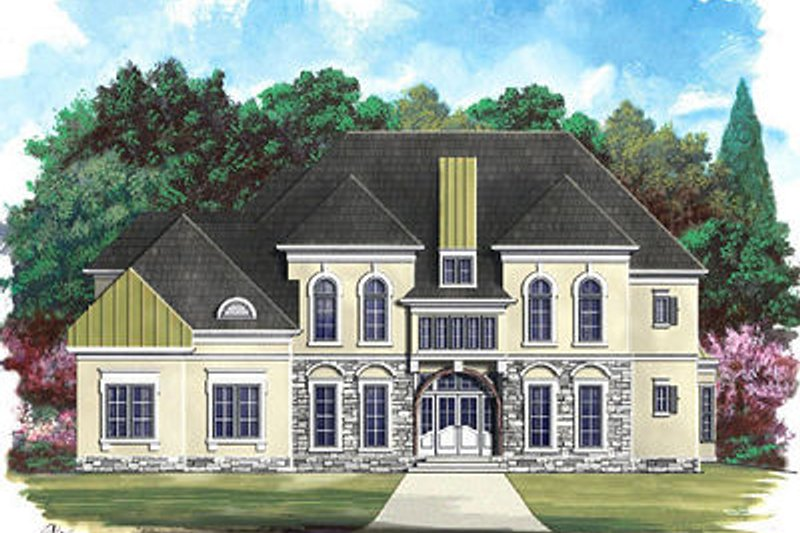 European Exterior - Front Elevation Plan #119-249