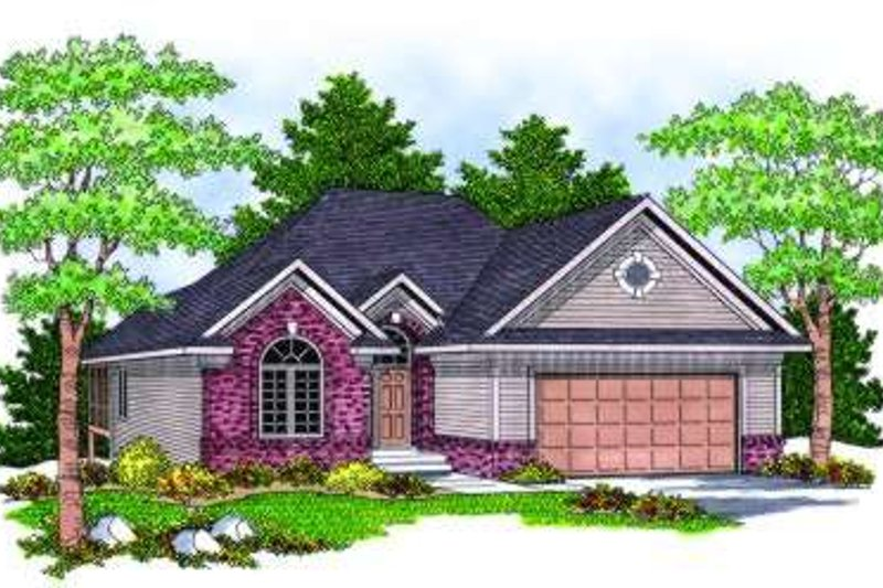 European Exterior - Front Elevation Plan #70-801 - Houseplans.com