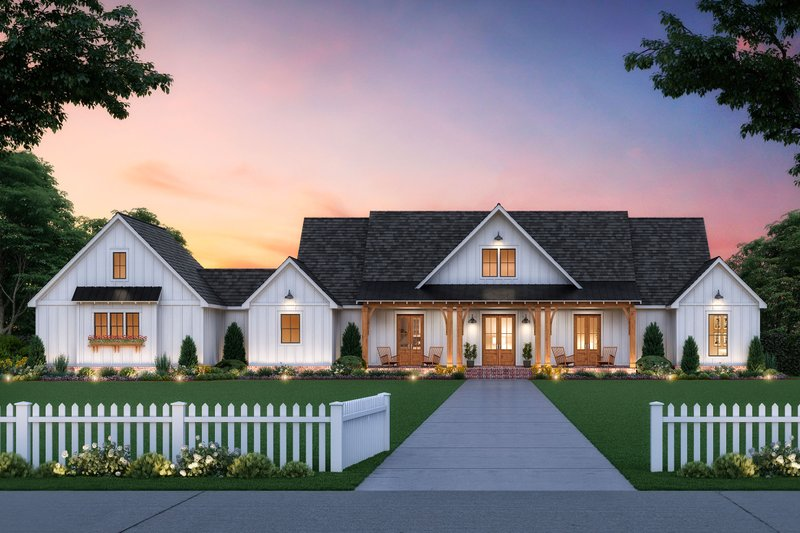 Architectural House Design - Farmhouse Exterior - Front Elevation Plan #1074-14