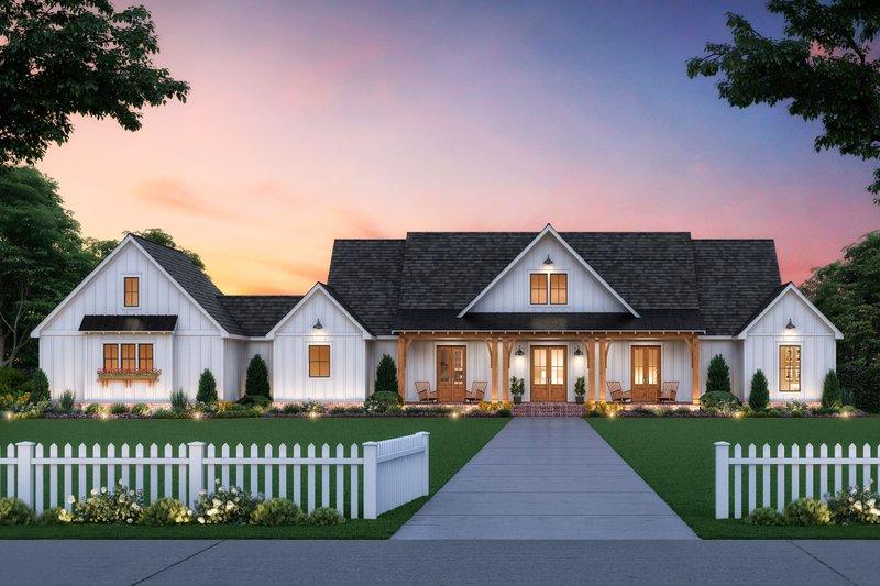 Dream House Plan - Farmhouse Exterior - Front Elevation Plan #1074-14