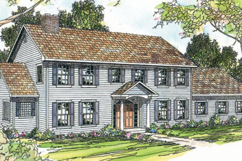 Colonial Exterior - Front Elevation Plan #124-287