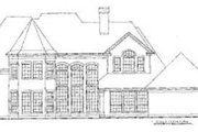 European Style House Plan - 4 Beds 3.5 Baths 3677 Sq/Ft Plan #20-1152 Exterior - Rear Elevation