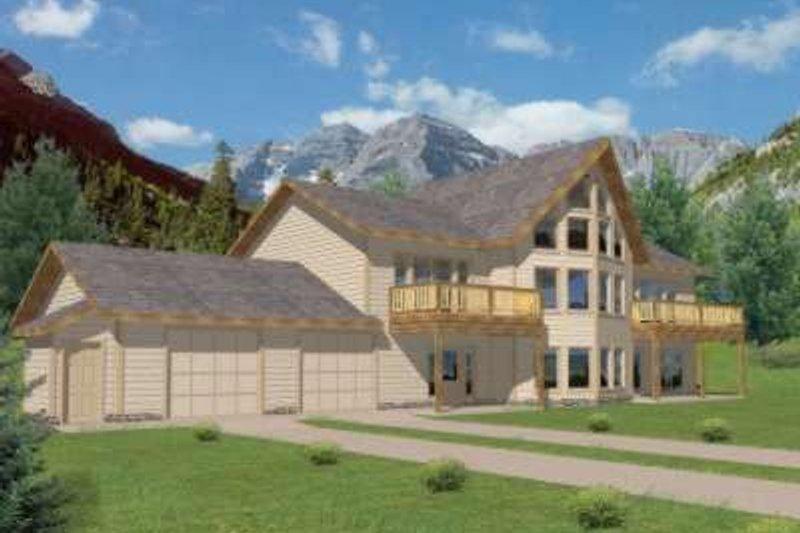 Modern Exterior - Front Elevation Plan #117-465 - Houseplans.com