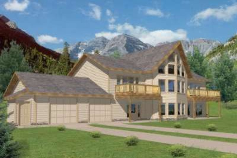 Dream House Plan - Modern Exterior - Front Elevation Plan #117-465