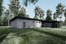 Home Plan - Contemporary Exterior - Rear Elevation Plan #923-194