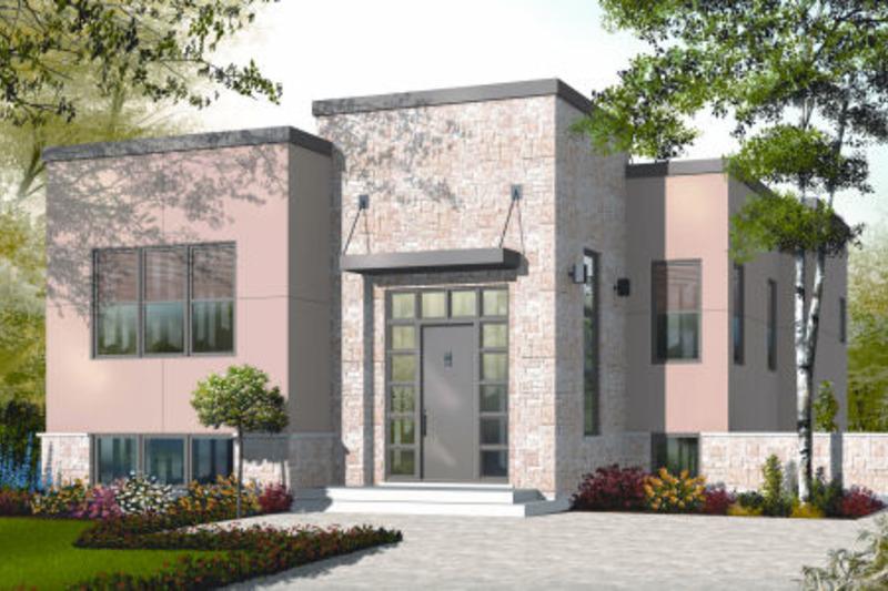 Modern Exterior - Front Elevation Plan #23-2226 - Houseplans.com