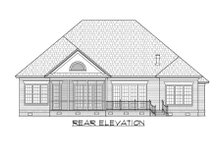 House Plan Design - Traditional Exterior - Rear Elevation Plan #1054-86