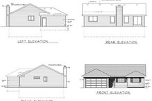 Ranch Exterior - Rear Elevation Plan #100-449