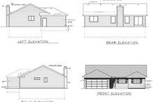 House Design - Ranch Exterior - Rear Elevation Plan #100-449