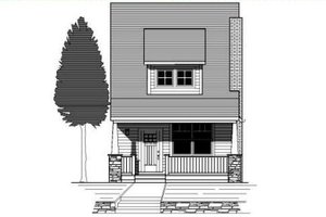 Craftsman Exterior - Front Elevation Plan #423-3