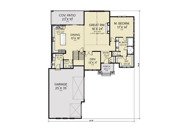 House Plan Design - Farmhouse Floor Plan - Main Floor Plan #1070-119