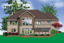 Dream House Plan - Rear view - 2900 square foot Craftsman home