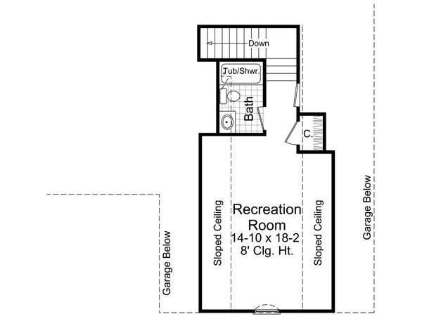 Traditional Floor Plan - Upper Floor Plan Plan #21-210
