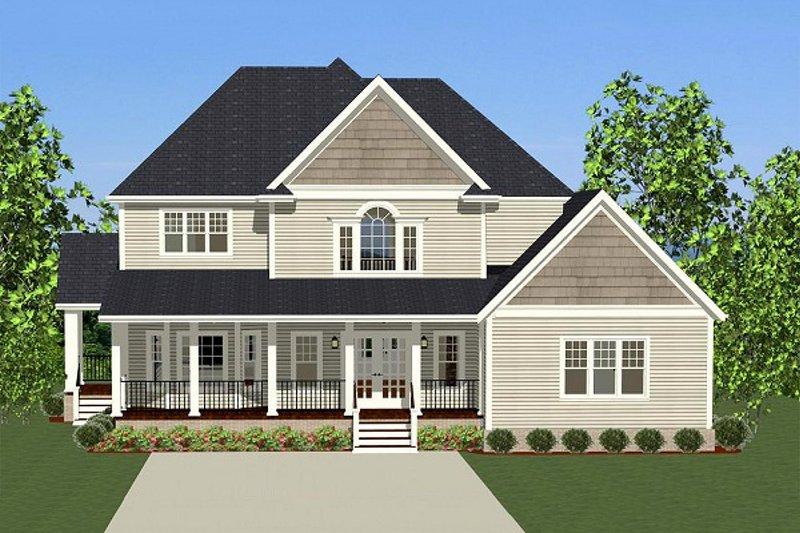 Farmhouse Exterior - Rear Elevation Plan #898-10 - Houseplans.com