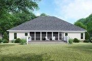 Craftsman Style House Plan - 4 Beds 3.5 Baths 2663 Sq/Ft Plan #923-144 Exterior - Rear Elevation