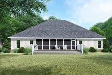Craftsman Exterior - Rear Elevation Plan #923-144