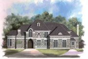European Style House Plan - 4 Beds 3 Baths 4138 Sq/Ft Plan #119-220 Exterior - Front Elevation