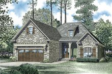 European Exterior - Front Elevation Plan #17-2453