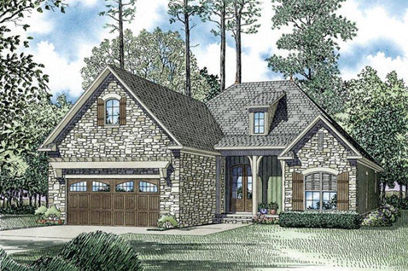 Dream House Plan - European Exterior - Front Elevation Plan #17-2453
