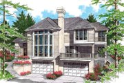 Prairie Style House Plan - 3 Beds 2 Baths 2672 Sq/Ft Plan #48-402 Exterior - Other Elevation