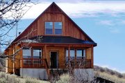 Log Style House Plan - 1 Beds 1 Baths 950 Sq/Ft Plan #48-303