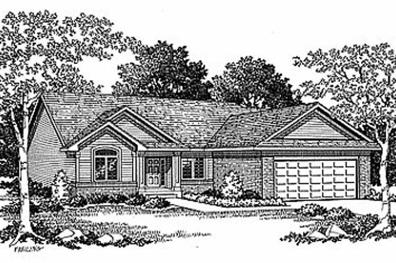 Traditional Exterior - Front Elevation Plan #70-125