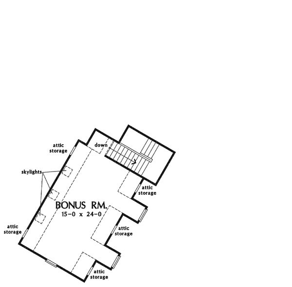 European Floor Plan - Upper Floor Plan Plan #929-4