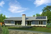 Ranch Style House Plan - 3 Beds 2 Baths 2040 Sq/Ft Plan #497-50 Exterior - Rear Elevation