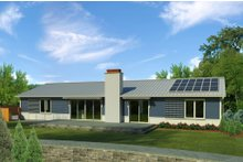 Ranch Exterior - Rear Elevation Plan #497-50