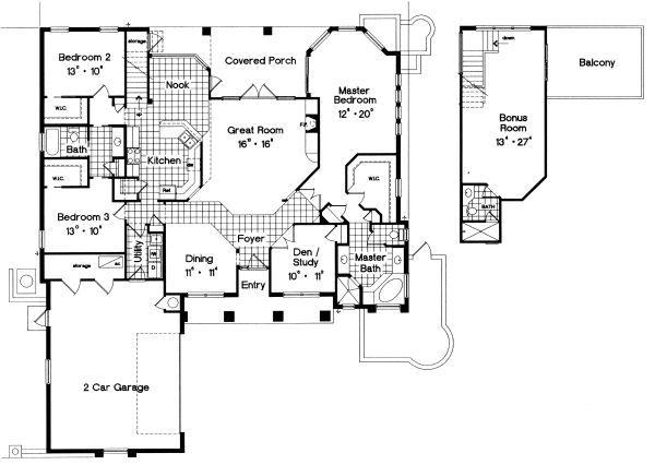 European Floor Plan - Main Floor Plan Plan #417-298