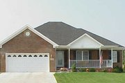 Ranch Style House Plan - 3 Beds 2 Baths 1568 Sq/Ft Plan #412-131 Exterior - Front Elevation