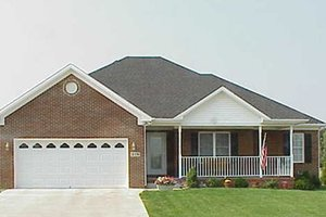 Ranch Exterior - Front Elevation Plan #412-131