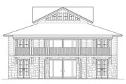 Country Style House Plan - 5 Beds 4 Baths 3086 Sq/Ft Plan #426-17 Exterior - Rear Elevation