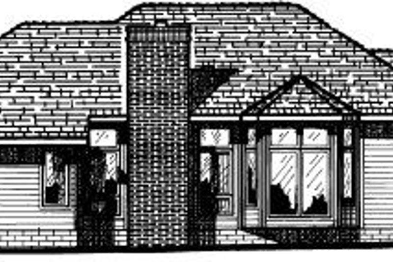 Traditional Exterior - Rear Elevation Plan #20-140 - Houseplans.com