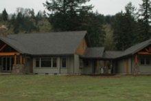 Dream House Plan - Craftsman Exterior - Rear Elevation Plan #124-704