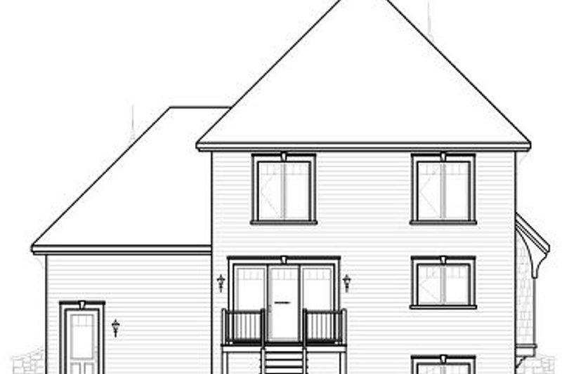 Traditional Exterior - Rear Elevation Plan #23-811 - Houseplans.com