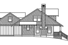 Home Plan Design - Bungalow Exterior - Other Elevation Plan #124-485