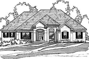 Home Plan - European Exterior - Front Elevation Plan #31-105