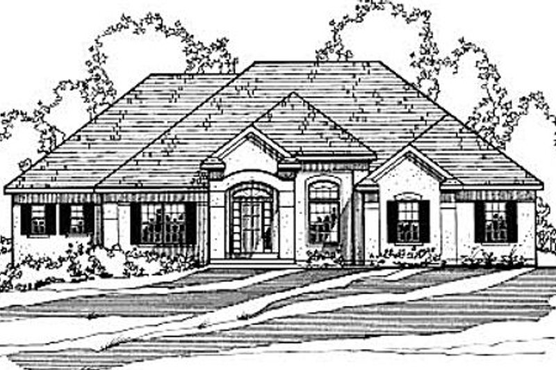 European Exterior - Front Elevation Plan #31-105