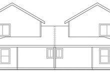 Home Plan - Traditional Exterior - Rear Elevation Plan #124-813