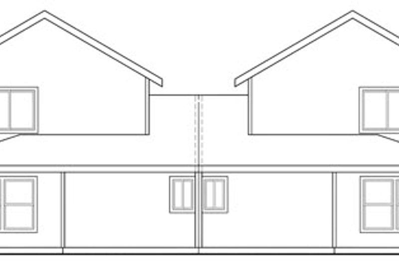Traditional Exterior - Rear Elevation Plan #124-813 - Houseplans.com