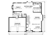 Farmhouse Style House Plan - 4 Beds 2.5 Baths 2492 Sq/Ft Plan #414-109 Floor Plan - Main Floor