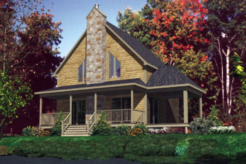 Traditional Style House Plan - 3 Beds 1.5 Baths 1344 Sq/Ft Plan #138-309 Exterior - Front Elevation